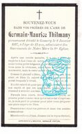 DP Germain Maurice Thilmany ° 1914 † Gomery Virton - Prov. Luxembourg 1927 - Devotion Images