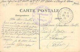 PHILATELIE / MARCOPHILIE / OBLITERATION 33e Rgmt Territorial / GUERRE 1914/1918 / CPA FRANCE 89 Ancy Le Franc - WO1