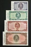 BURMA (MYANMAR) SET 1 5 10 20 KYATS BANKNOTES (1965) UNC - Myanmar