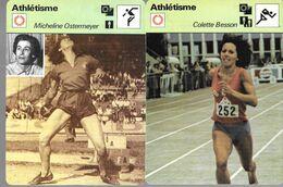 GF1026 - FICHES RENCONTRE - ATHLETISME - OSTERMEYER BESSON DUPUREUR DUCLOS - Atletismo