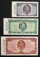 BURMA (MYANMAR) SET 1 5 10 KYATS BANKNOTES (1965) UNC - Myanmar