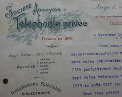 Société Téléphone Privée 1918 LIEGE - 1900 – 1949