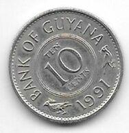 *guyana 10 Cents 1991 Km 33 Bu - Guyana