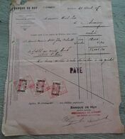 Banque De HUY  1917 Seraing Bons De Caisse Cockerill - 1900 – 1949