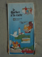 Carte Touristique - Le Québec à La Carte - 1981 - Andere