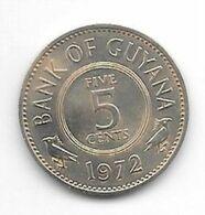 *guyana 5 Cents 1972 Km 32 Bu - Guyana