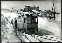 CV3680 MOTTARONE (Verbania VB) Bel Primo Piano Tra La Neve Del Treno Da Stresa, FG, Viaggiata 1961 Per Legnano, Buone Co - Verbania