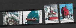 "Australie (territoire Antarctique)  N° 153 à 156**  ""Navires De Recherche"" - Unused Stamps"