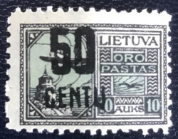 Litouwen - Lietuva - P3/1- MNH - 1922 - Michel Nr. 185 - Vliegtuig Over Vilnius - Lithuania
