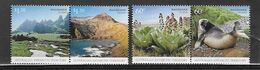 "Australie (territoire Antarctique)  N° 179 à 182**  ""L'ile Macquarie, Flore-faune,paysage"" - Unused Stamps"