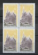 France - Frankreich 1972 Y&T N°1714 - Michel N°1788 *** - 50c EUROPA - Bloc De 4 Timbres - Unused Stamps