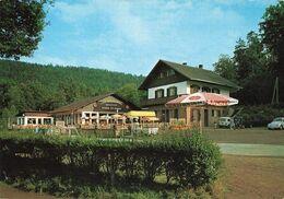 57 Bitche Etang De Hanau Café Restaurant Bellevue Voiture Auto Vw Coccinelle Volkswagen Renault 4L - Bitche