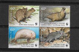 "Australie (territoire Antarctique)  N° 196**  Cinquantenire Du WWF ""imprimé Attenant Aux Timbres Australie-Chrisma-Cocos - Unused Stamps"