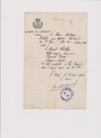 PRESENCE OBLIGATOIRE MILITAIRES 3em GENIE SECTEUR POSTAL 6041 MAIRIE DU CROTOY (SOMME) 21 MAI 1940 - 1939-45
