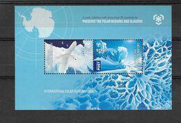 Australie (territoire Antarctique)  Bloc Feuillet N° 5** Protection Des Zones Polaires Et Des Glaciers - Ongebruikt
