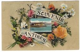 ANTIBES (06) - Souvenir D' Antibes - FLEURS - Carte Fantaisie - Ed. LL. - Non Classés