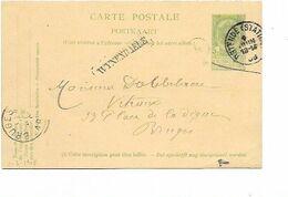 SH 0636. CP 37 OSTENDE (STATION) 4 JUIN 08 + GRIFFE WYNENDAELE Vers Bruges. TB - Langstempel