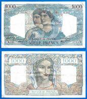 France 1000 Francs 1945 22 Novembre Prefix K Minerve Mercure Que Prix + Port Grand Billet Frcs Frc Paypal Bitcoin OK - 1871-1952 Antichi Franchi Circolanti Nel XX Secolo