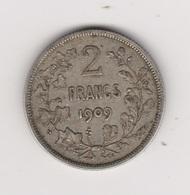 2 FRANCS LEOPOLD II 1909 ARGENT - 08. 2 Francs