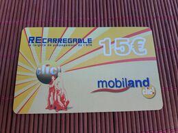 Prepaidcard Andorra Mobiland 15 Euro  Used 2 Scans Rare - Andorra