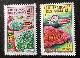 COTE FRANCAISE DES SOMALIS - 2 Timbres Neufs - Coraux - Y&T 316-317 - Côte Française Des Somalis (1894-1967)