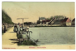 MENNETOU (41) - Mennetou-sur-Cher - Vue Du Canal - Carte Colorisée / Toilée - Ed. Boitte, Nouveautés - Otros Municipios
