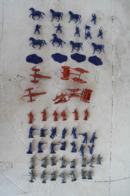 * - Lot De Petits Soldats Airfix: 17 Cavalerie Nordiste, 18 Artillerie, 15 Sudistes, 14 + 12 Nordistes. - Army