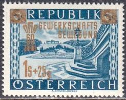 Austria Autriche Österreich 1953: Aufdruck GEWERKSCHAFTS-BEWEGUNG Michel-No. 983 ** Postfrisch MNH (Michel 3.00 Euro) - 1945-60 Unused Stamps