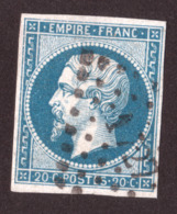 Napoléon III N° 14B Bleu-verdâtre - Oblitération PC 1727 Lille - 1853-1860 Napoléon III.