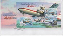 Cocos (Keeling) Islands 2017 Aviation, Souvenir Sheet, FDC - Cocos (Keeling) Islands