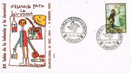 37704. Carta BARCELONA 1975. XII Salon De La Infancia Y Juventud - 1931-Aujourd'hui: II. République - ....Juan Carlos I