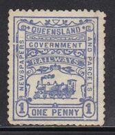 BEFORE-1950 Local Australia QUEENSLAND 1901 Parcel Trains Railway MNG CV $15 - Treinen