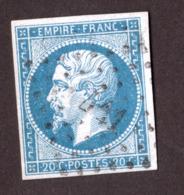 Napoléon III N° 14B Bleu - Oblitération PC 441 Bordeaux - 1853-1860 Napoléon III