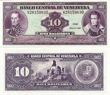 VENEZUELA       10 Bolívares       P-61b       31.5.1990       UNC - Venezuela