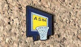 Pin's BASKET - ASM Association Sportive Montferrand - Peint Cloisonné - Fabricant Inconnu - Baloncesto