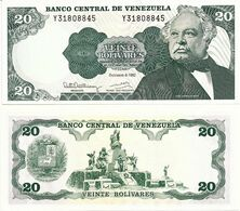 VENEZUELA       20 Bolívares       P-63d       8.12.1992       UNC - Venezuela