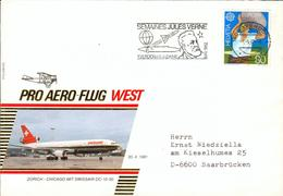 Swiss Pro Aero FFC 1982 Jules Verne Submarine U-Boot Fl45 - First Flight Covers