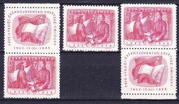** Tchécoslovaquie 1948 Mi 557+Zf (Yv 487+vignettes), (MNH) - Neufs
