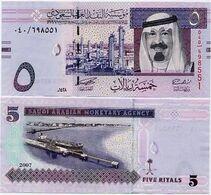 SAUDI ARABIA       5 Riyals       P-32a        2007 / AH1428        UNC - Saudi Arabia