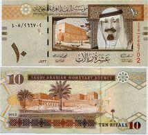 SAUDI ARABIA       10 Riyals       P-33c        2012 / AH1433         UNC - Saudi Arabia