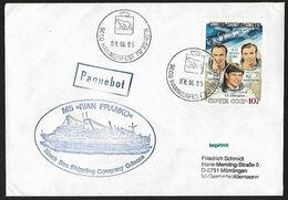 1983 - CCCP - Cover + Michel 5256 [Soyouz, Saliout, Popow, Serebrow & Sawizkaja] + HAMMERFEST - Storia Postale