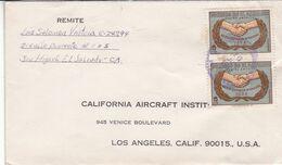 """EL SALVADOR. CIRCULATED FROM SAN MIGUEL TO """"CALIFORNIA AIRCRAFT INSTITUTE"""" LOS ANGELES, U.S.A. YEAR 1965 -LILHU - El Salvador"""
