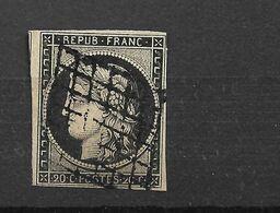 CERES N° 3 ,avec 4 Marges, Pas Aminci Pas De Charnière, Oblitéré Grille Côte 70€ - 1849-1850 Ceres