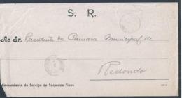 Carta Do (SR) Comandante Do Serviço De Torpedos Fixos De Paço De Arcos. Obliterações De Paço De Arcos E Redondo 1921.2sc - 1910-... République