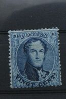Timbre Charnière De Belgique – COB 15B – Médaillon Dentelé 14 ½ 20c  – 1865 - 1863-1864 Medallions (13/16)