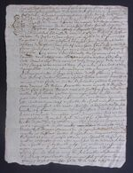 Manuscrit Du XVIIIe Siècle - Cantal - Saint-Flour - Protagonistes Dénommés Guillaume Combes Et Autres - Manuskripte