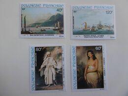 POLYNESIE   PA163/166  * *  PEINTRES DU 18E - Neufs