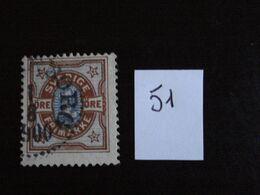 Suède 1892 - 1ö Brun-jaune Et Bleu - Y.T. 51 - Oblitéré - Used - Gestempeld. - Oblitérés