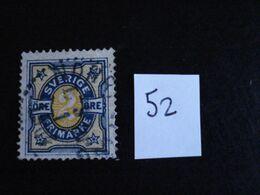 Suède 1892 - 2ö Bleu Et Jaune - Y.T. 52 - Oblitéré - Used - Gestempeld. - Oblitérés