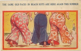 BAMFORTH FASHION HUMOUR   VACATION COMICS   SAME OLD FACES IN BEACH SUITS USA SERIES - Mode